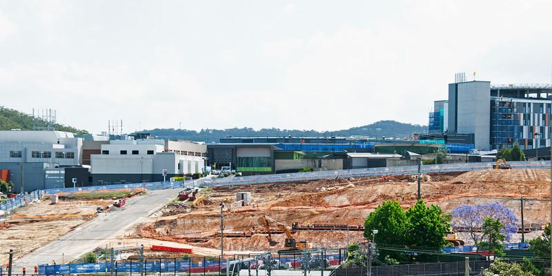 Gosford Hospital Construction Progress. November 11, 2017.   (h7ed)