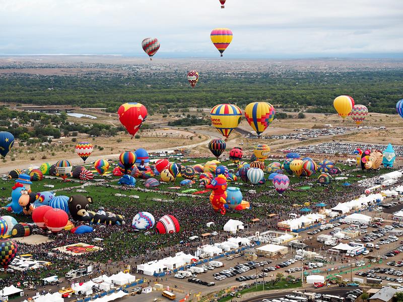 Above the Albuquerque International Balloon Fiesta