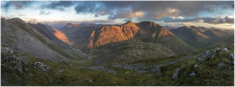 Glencoe panorama from Sgorr nam Fiannaidh