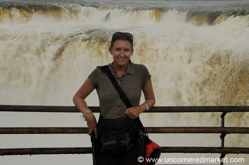 Audrey at Iguazu Falls, Argentina