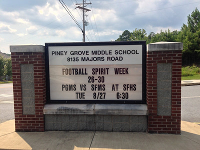 Piney Grove MS vs South Forsyth MS - Aug, 27, 2013