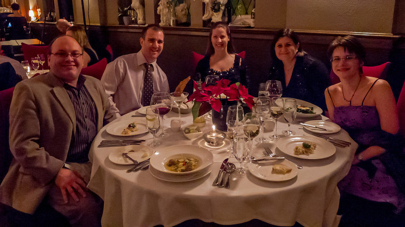 This Year's New Years Table: Jean, Steve, Michelle, Kristi, Cathy