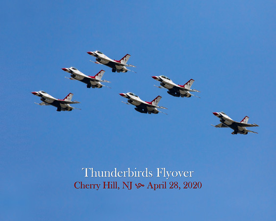 Thunderbirds and Blue Angels Flyover