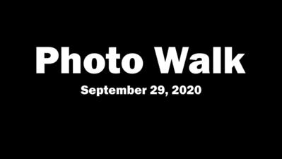 Photo Walk (September 29, 2020)