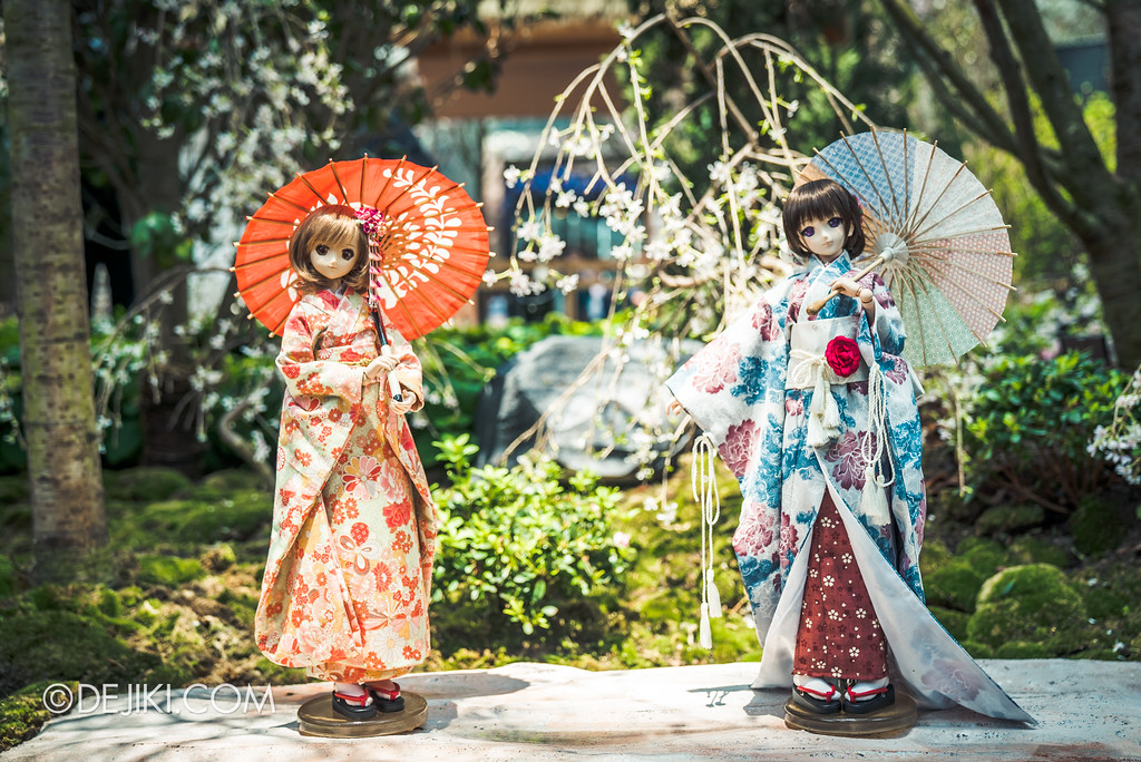 Gardens by the Bay - Sakura Matsuri 2018 floral display - flower field dolls parasol