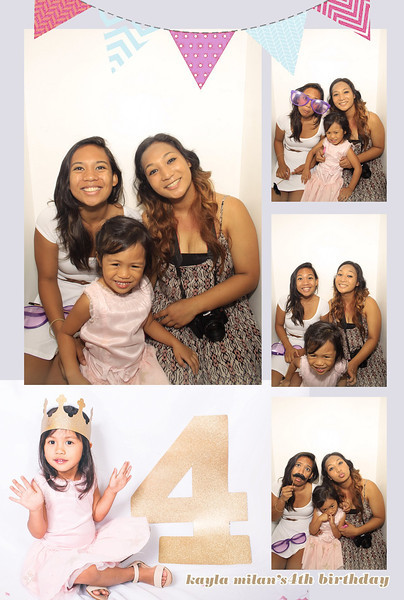 Kayla Milan's 4th Birthday Party (Luxe Photo Booth)