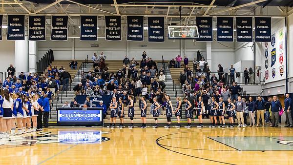 CC Varsity Girls Basketball vs Carroll Sectional 2017-2-4