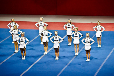 Broken Arrow Cheerleaders at State Competition