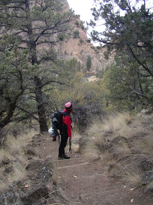 Walking the trails of Smith Rocks.