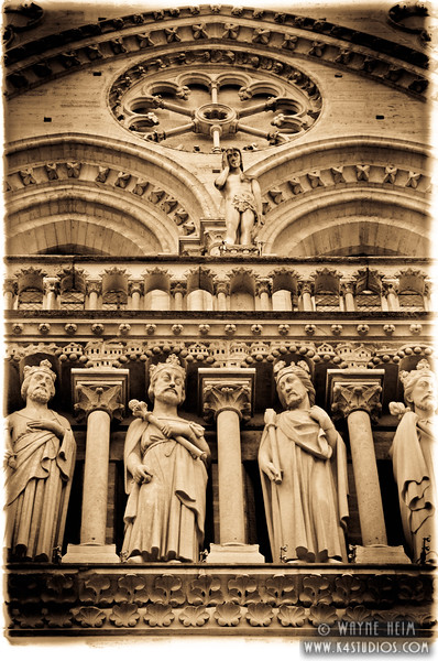 Statues of Notre Dame 2  Photography by Wayne Heim