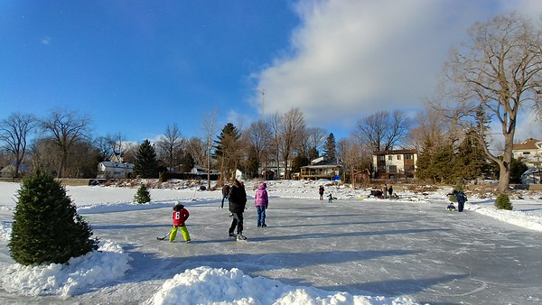 Skating On Lou and Maurice's rink
