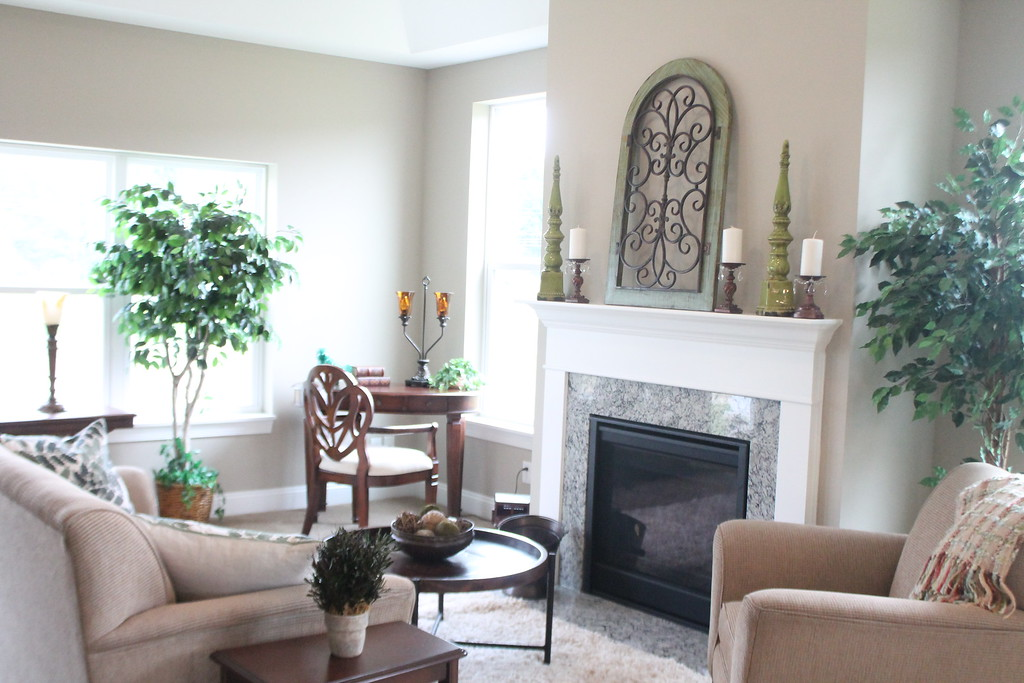 . The Living area in one of the model cottages in Notre Dame Village. Kristi Garabrandt - The News-Herald
