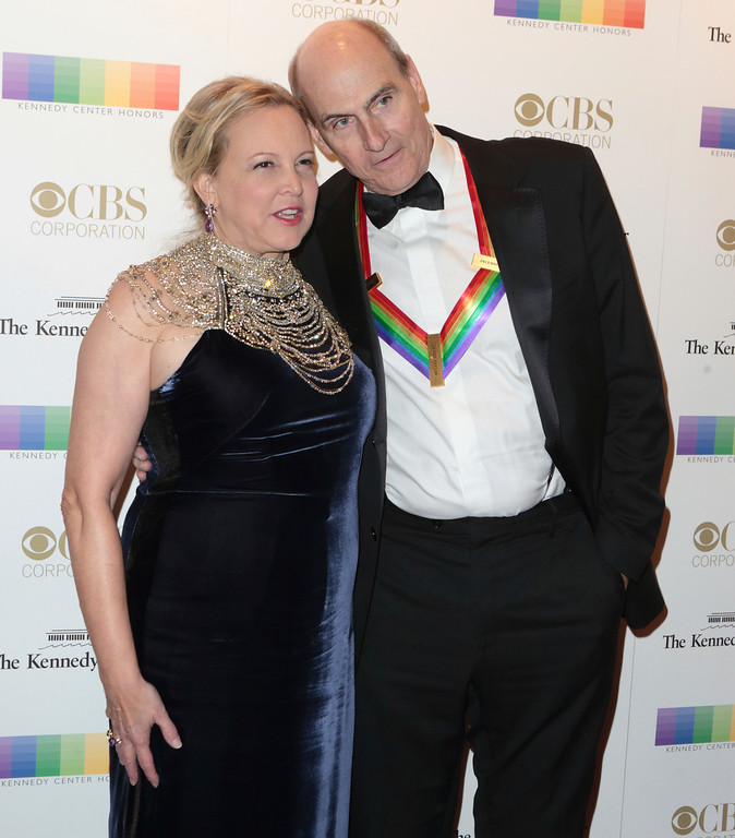 . Kim Taylor, left, with her husband 2016 Kennedy Center Honoree James Taylor attend the 39th Annual Kennedy Center Honors at The John F. Kennedy Center for the Performing Arts on Sunday, Dec. 4, 2016, in Washington, D.C. (Photo by Owen Sweeney/Invision/AP)