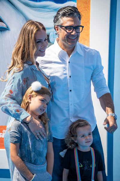 WESTWOOD, CA - SEPTEMBER 22: Jaime Camil, Heidi Balvanera and family arrive at the Premiere Of Warner Bros. Pictures' 'Smallfoot' at Regency Village Theatre on Saturday, September 22, 2018 in Westwood, California. (Photo by Tom Sorensen/Moovieboy Pictures)