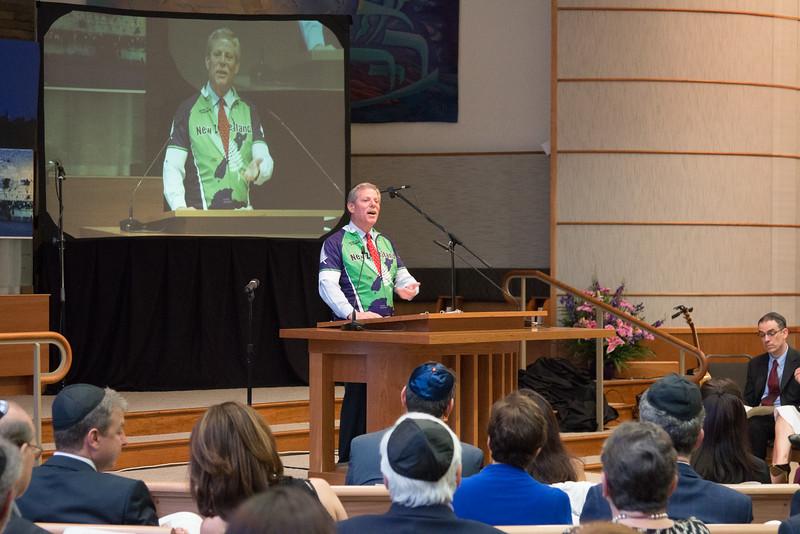 Steve Teitelbaum, Master of Ceremonies -- Tour de Rudolph -- Retirement tribute for Rabbi Bill Rudolph, Congregation Beth El, Bethesda, MD, May 17, 2015