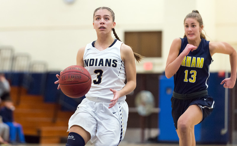 01/22/19  Wesley Bunnell | Staff  Newington girls basketball defeated RHAM on Tuesday night at Newington High School. Karissa Zocco (3).