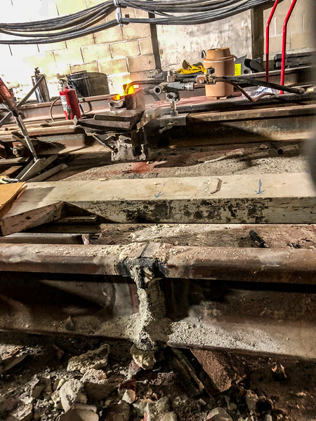 Exothermic Welding at Expo/Crenshaw Station - Pre grind of excess metal