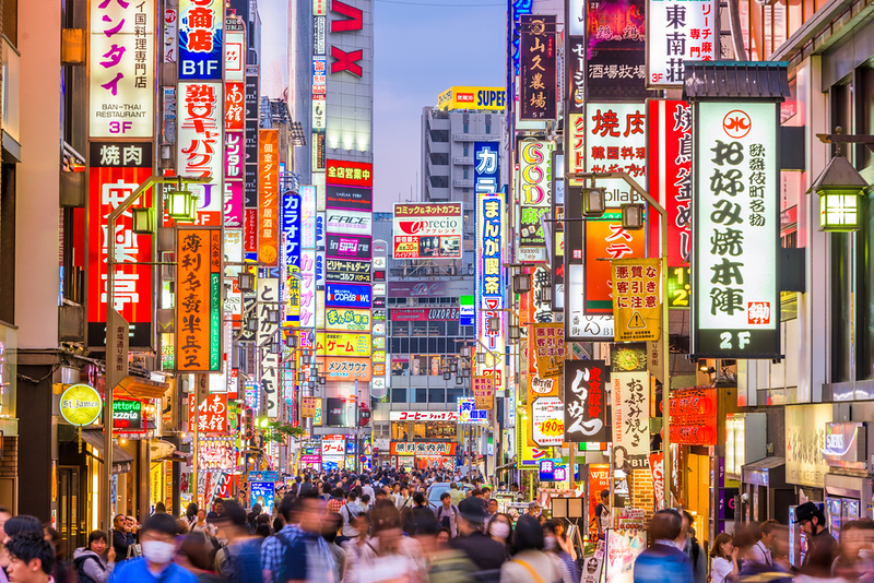 Kabukicho in the Shinjuku district. Editorial credit: Sean Pavone / Shutterstock.com
