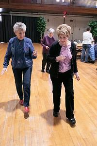 Line Dancing at the Fitchburg Senior Center, Jan. 9, 2020