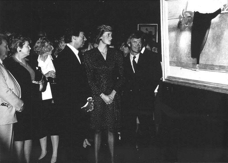 Diana, Princess of Wales with Robert Heindel