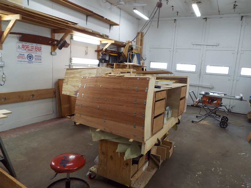Starboard side with Mahogany skin fit.