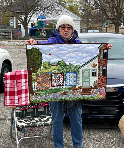 Jan Asmann brought back, by popular demand, the quilt she showed last month