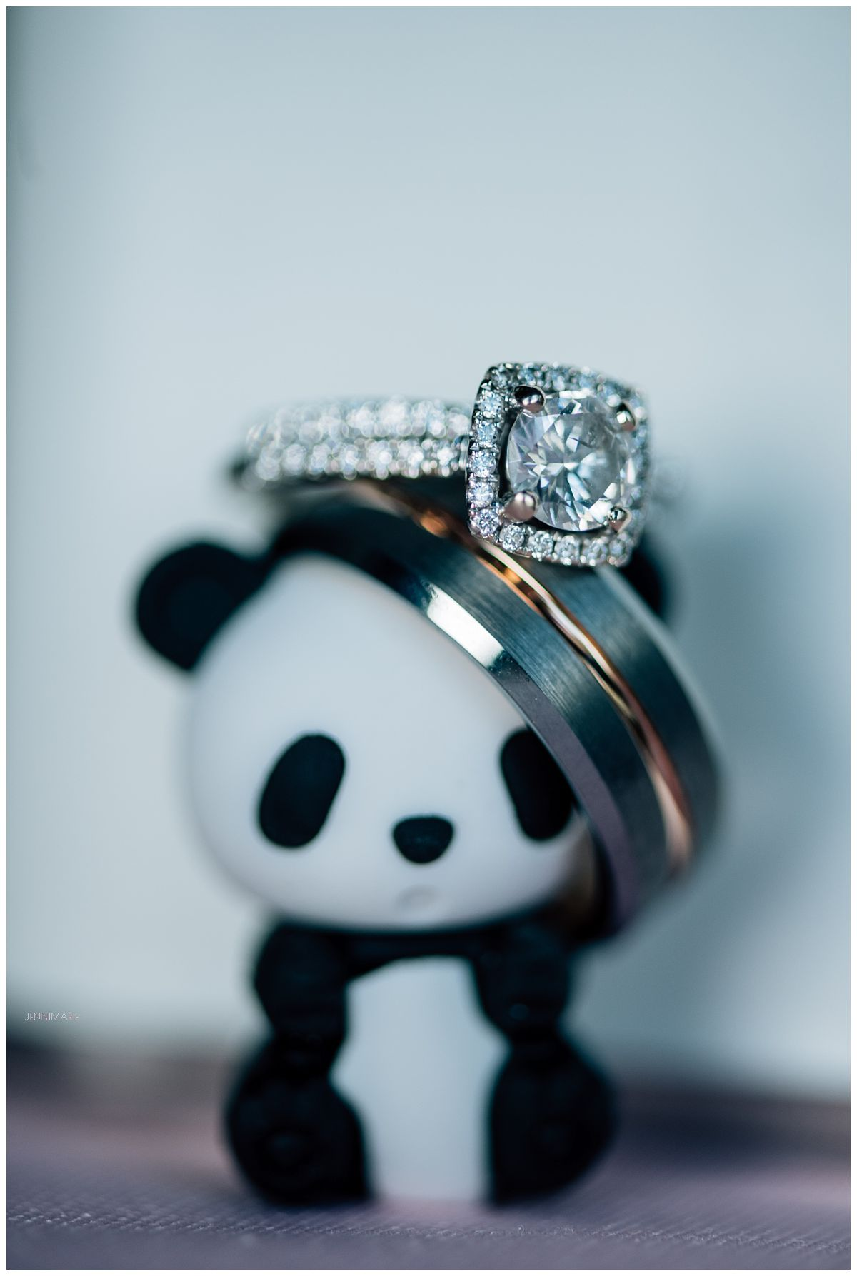 panda bear with wedding ring