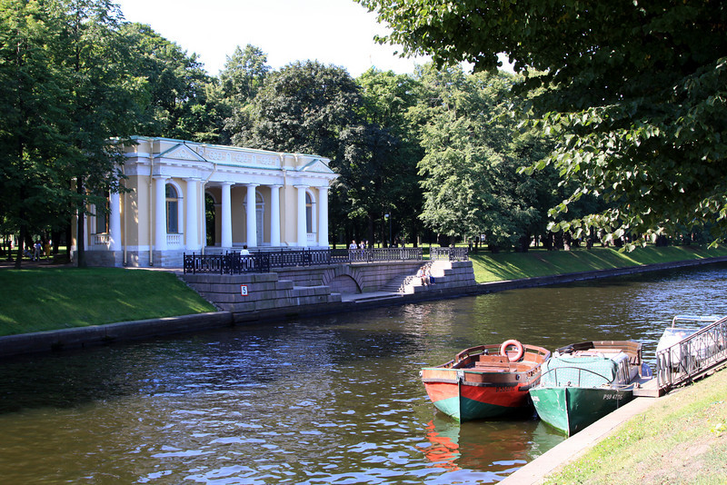 Mikhaylovsky Gardens and the Moyka canal.
