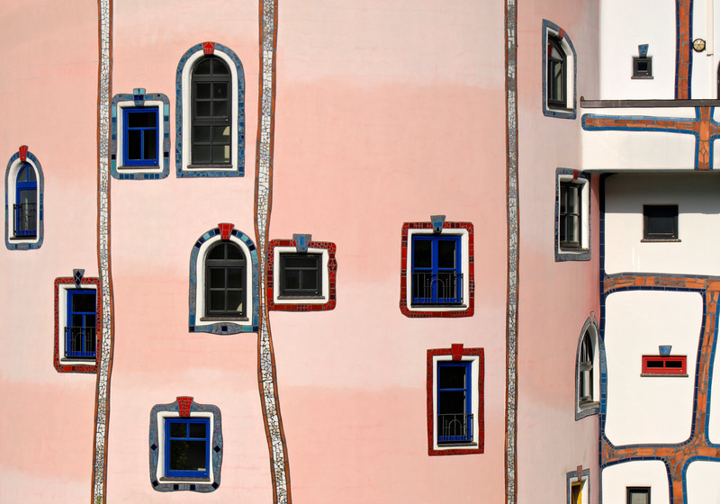 Facade Detail, Stammhaus, Bad Blumau,