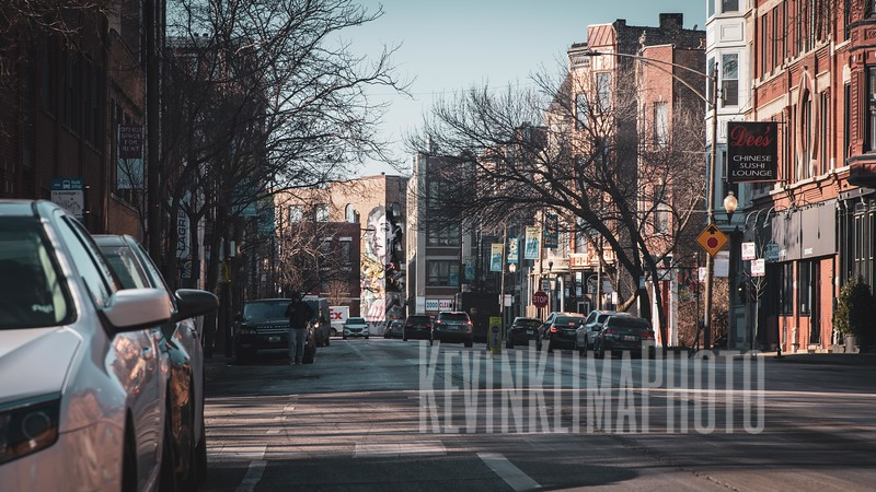 Looking West on Armitage in Lincoln Park