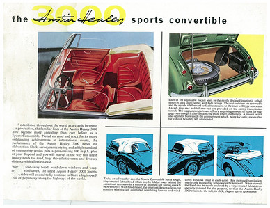 Austin Healey 3000 MkII Sales Brochure and Driver's Handbook