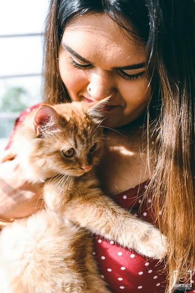 Sadia Salsabil Cat Shoot Photo