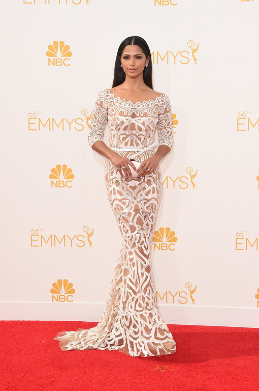 . Model Camila Alves attends the 66th Annual Primetime Emmy Awards held at Nokia Theatre L.A. Live on August 25, 2014 in Los Angeles, California.  (Photo by Jason Merritt/Getty Images)