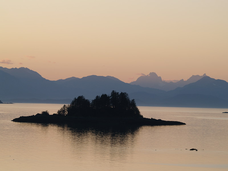 Looking across Lynn Canal to the Chilkat Range