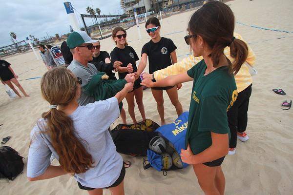 EHS Beach VB Pre Game Apr. 13, 2021