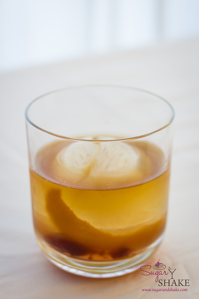 Bacon–Bourbon Old Fashioned. © 2013 Sugar + Shake