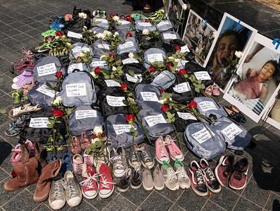 8 August 2021 San Francisco:  Memorial for Yemen Schoolbus Attack