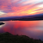 Sunset on the Columbia River, Hanford Reach National Monument