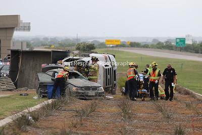 McKinney TX. 121/Hwy. 75 Dump truck MVA. 6/18/18