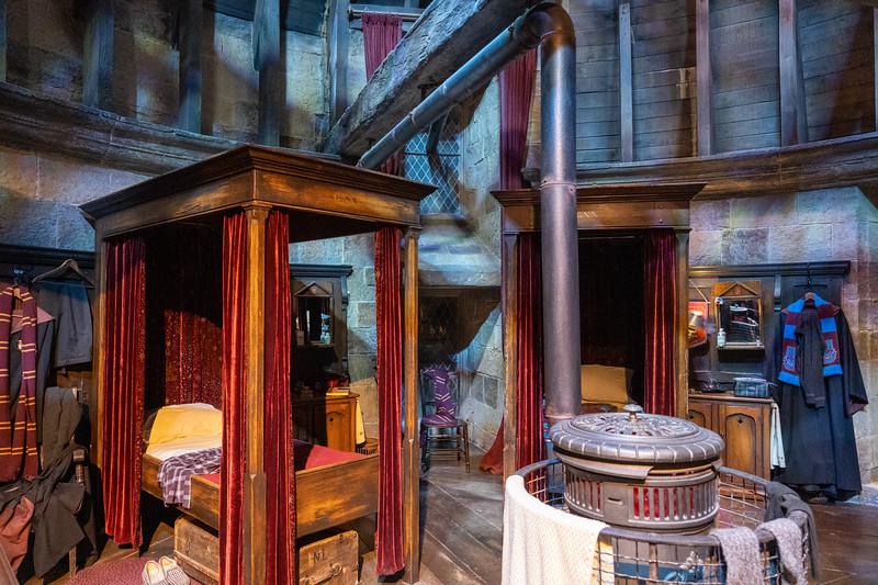 Gryffindor Common Room set at Warner Bros. Studio Tour London