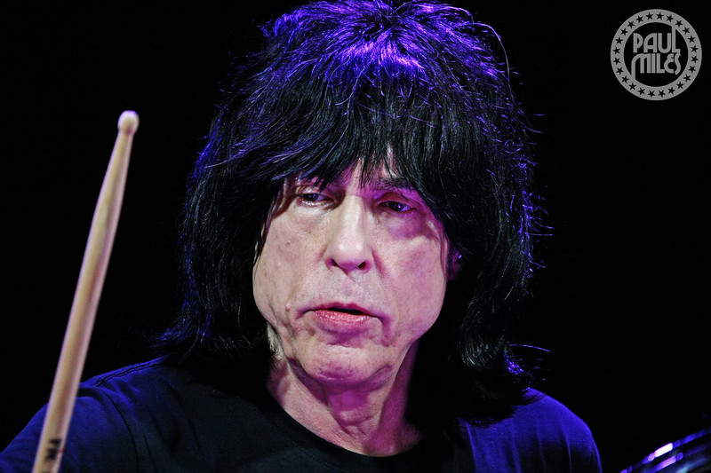 BLITZKRIEG BOP: Marky Ramone behind his drum kit – the only living member of the Ramones inducted into the Rock and Roll Hall of Fame.