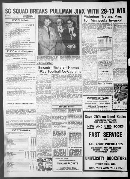 Daily Trojan, Vol. 45, No. 1, September 21, 1953