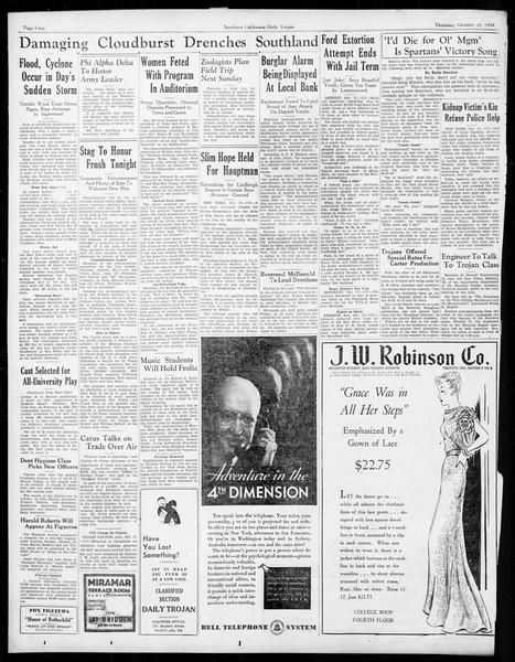 Daily Trojan, Vol. 26, No. 20, October 18, 1934