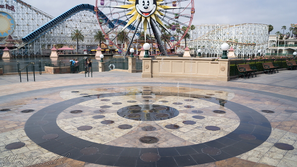 Disneyland Resort, Disney California Adventure, Paradise, Pier, Paradise Pier, World, Color, Viewing, Fountain