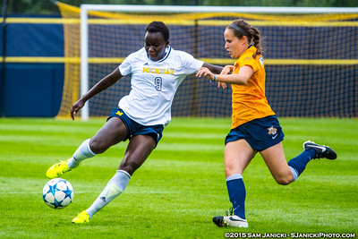 8-23-15 Michigan Women's Soccer Vs Marquette