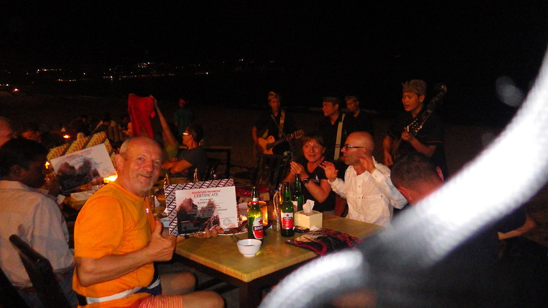 With great dinner and music we got certifications and gifts for summiting Carstensz Pyramid.