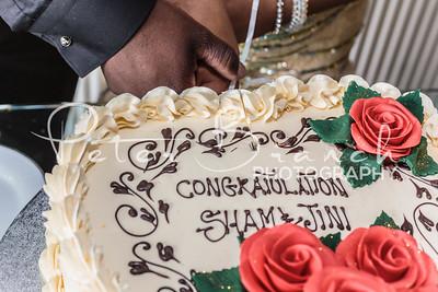 Wedding Breakfast & cutting of the cake