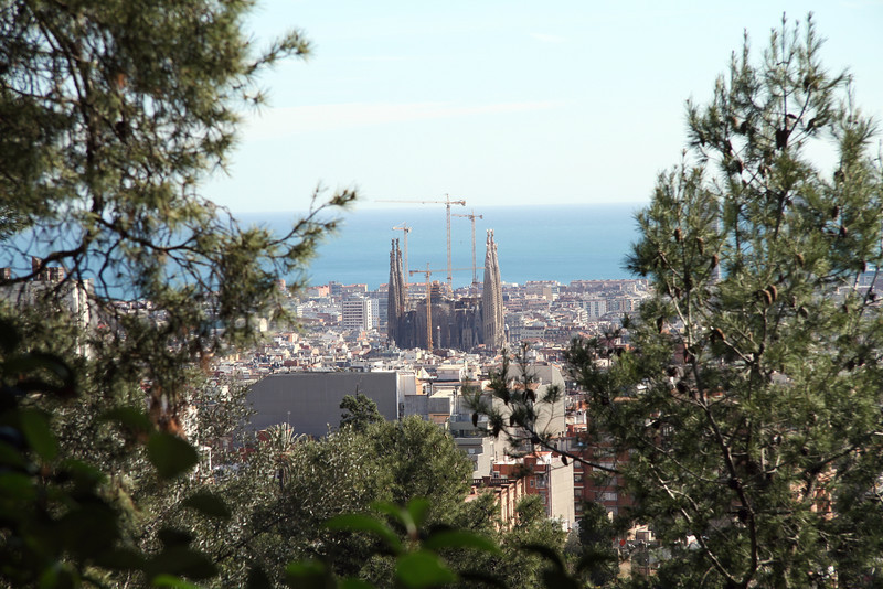 La Sagrada Familia from Parc Güell
