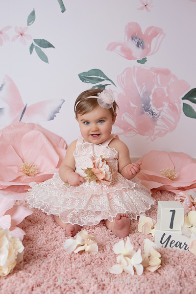 Juliette One Year Portraits