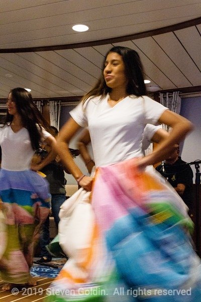Ecuadorian dancers entertaining us onboard.